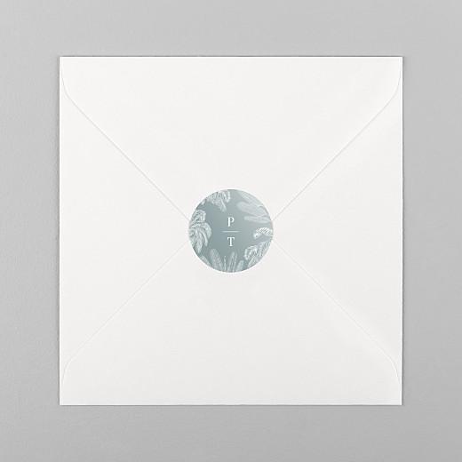 Stickers pour enveloppes mariage Oiseaux de paradis bleu - Vue 1