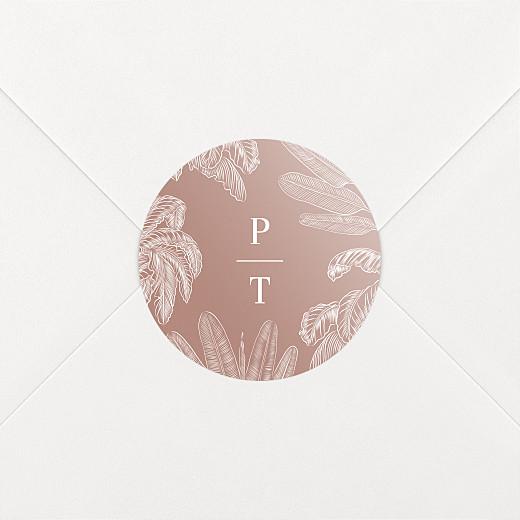 Stickers mariage Oiseaux de paradis rouille - Vue 2