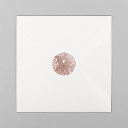 Stickers mariage Oiseaux de paradis rouille - Vue 1