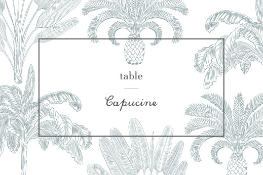 Marque-table mariage Oiseaux de paradis bleu