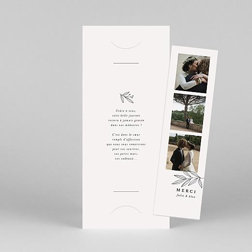 Carte de remerciement mariage Jeune pousse (marque-page) beige - Vue 1