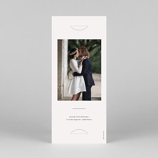 Carte de remerciement mariage Jeune pousse (marque-page) beige - Vue 4