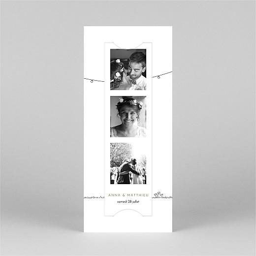 Carte de remerciement mariage Promesse bohème (marque-page) blanc - Vue 2