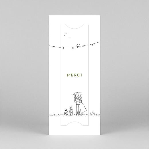 Carte de remerciement mariage Promesse bohème (marque-page) blanc - Vue 3