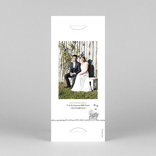 Carte de remerciement mariage Promesse bohème (marque-page) blanc - Vue 4