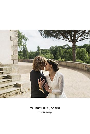 Carte de remerciement mariage Galerie 1 photo (dorure) blanc