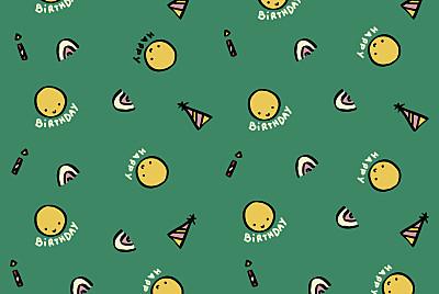 Carte d'anniversaire Happy by mathilde cabanas vert finition