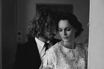 Carte de remerciement mariage Polka kraft finition