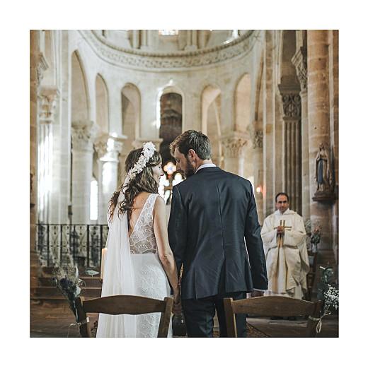 Carte de remerciement mariage Élégant cœur (dorure) blanc - Page 2