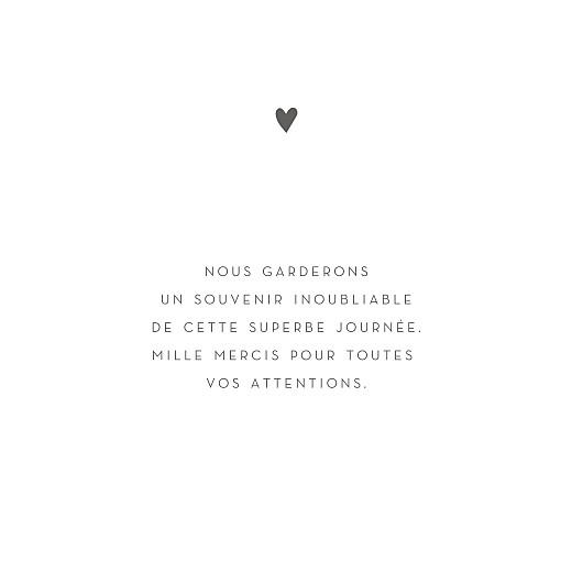 Carte de remerciement mariage Élégant cœur (dorure) blanc - Page 3