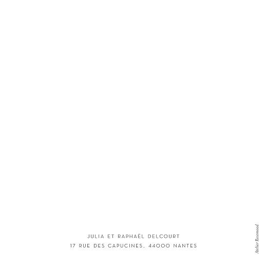 Carte de remerciement mariage Élégant cœur (dorure) blanc - Page 4