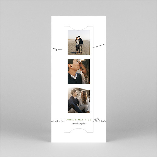 Faire-part de mariage Promesse bohème (marque-page) blanc - Vue 2