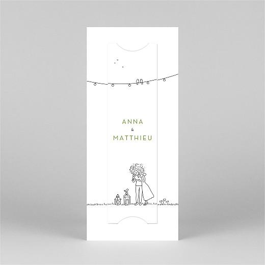 Faire-part de mariage Promesse bohème (marque-page) blanc - Vue 3
