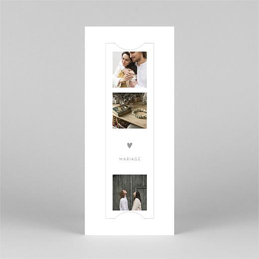 Faire-part de mariage Elégant cœur (marque-page) blanc - Vue 2