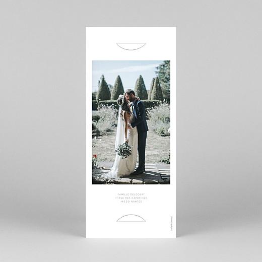 Carte de remerciement mariage Elégant cœur (marque-page) blanc - Vue 4