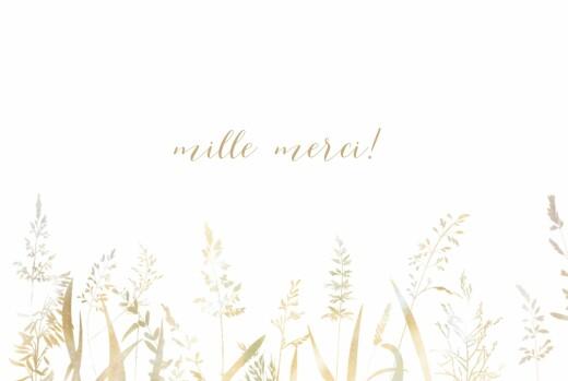 Carte de remerciement mariage Les hautes herbes sable