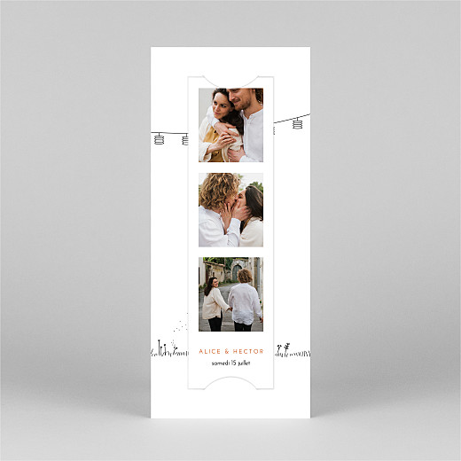 Faire-part de mariage Promesse champêtre (marque-page) blanc - Vue 2