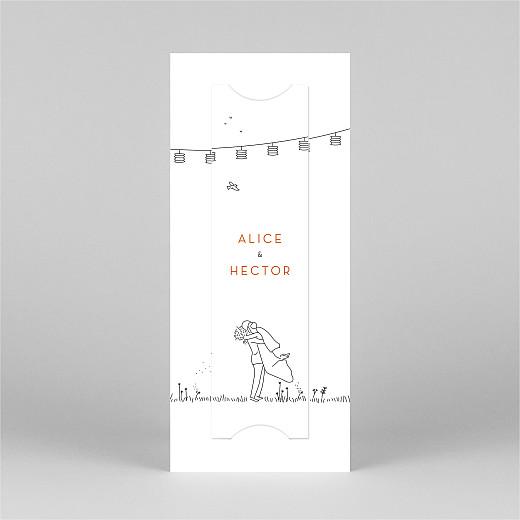 Faire-part de mariage Promesse champêtre (marque-page) blanc - Vue 3