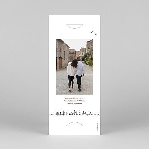 Faire-part de mariage Promesse champêtre (marque-page) blanc - Vue 4