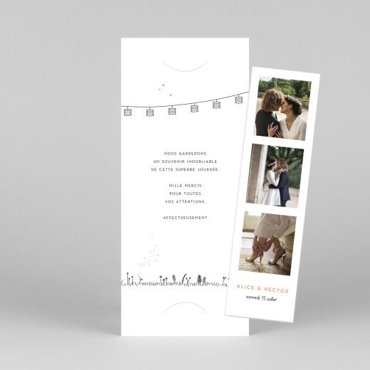 Carte de remerciement mariage Promesse champêtre (marque-page) blanc - Vue 1