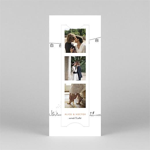 Carte de remerciement mariage Promesse champêtre (marque-page) blanc - Vue 2