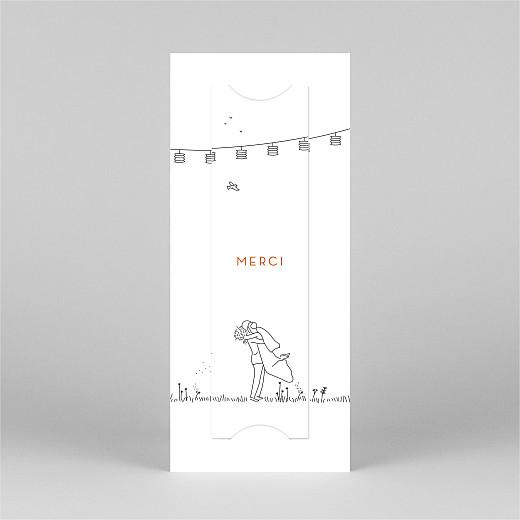 Carte de remerciement mariage Promesse champêtre (marque-page) blanc - Vue 3