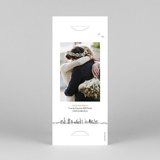 Carte de remerciement mariage Promesse champêtre (marque-page) blanc - Vue 4