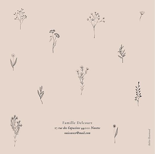 Faire-part de naissance Herbier rose - Page 4