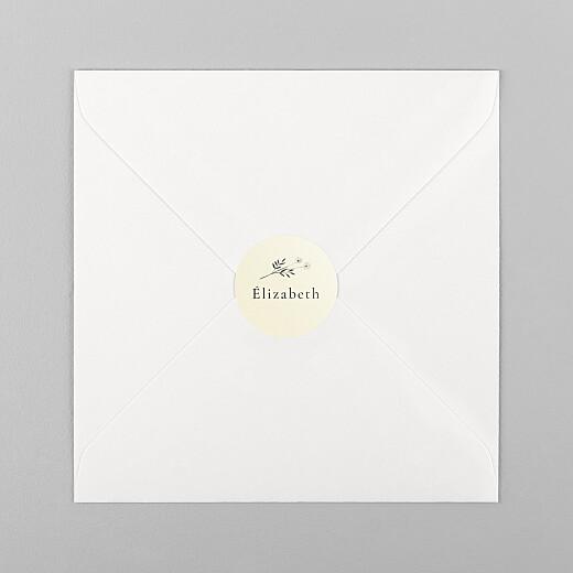 Stickers pour enveloppes naissance Herbier beige - Vue 1