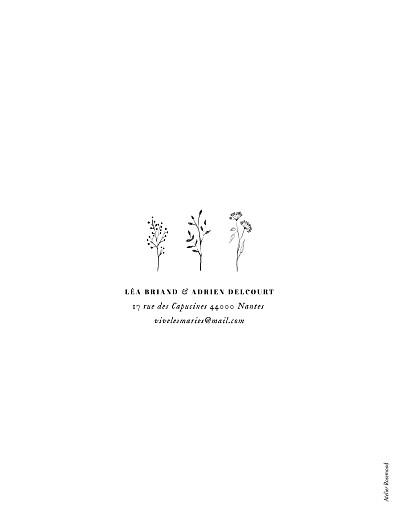 Faire-part de mariage Herbier blanc - Page 2
