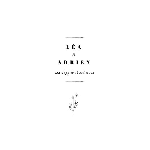 Faire-part de mariage Herbier (4 pages) blanc