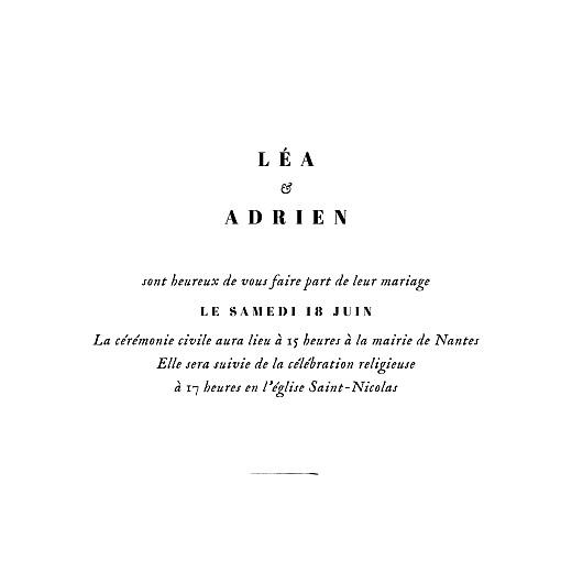 Faire-part de mariage Herbier (4 pages) blanc - Page 3