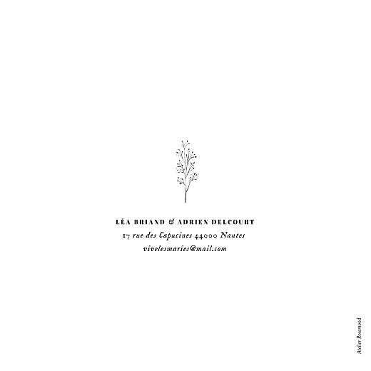 Faire-part de mariage Herbier (4 pages) blanc - Page 4