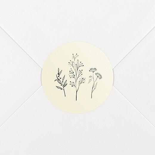 Stickers pour enveloppes naissance Herbier beige - Vue 2