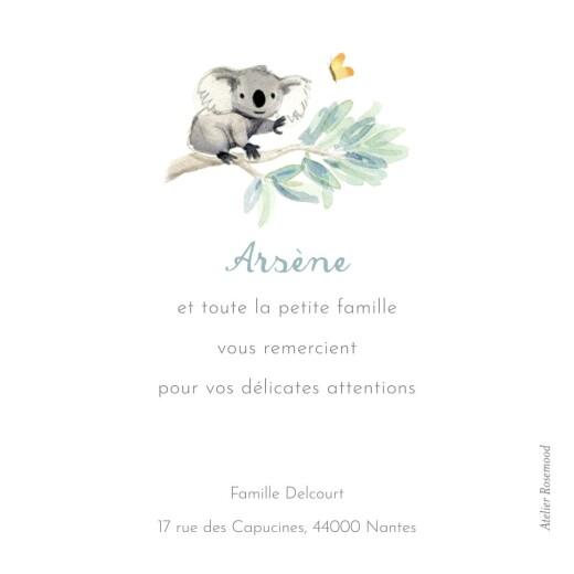 Carte de remerciement Merci koalas en famille - Page 2
