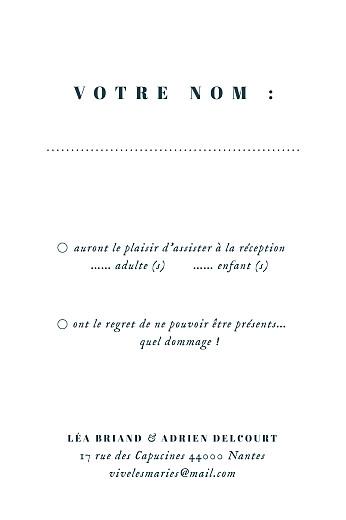 Carton réponse mariage Herbier (portrait) beige - Page 2