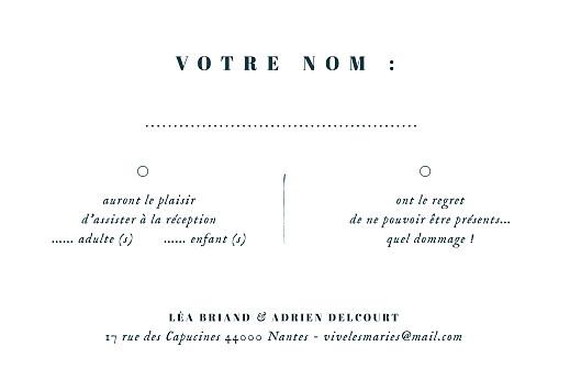 Carton réponse mariage Herbier beige - Page 2