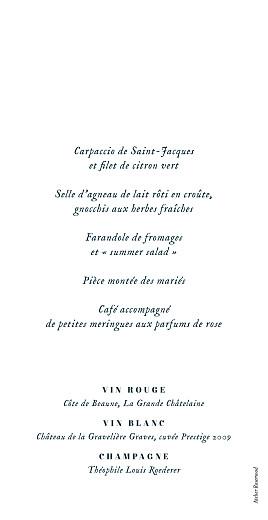 Menu de mariage Herbier beige - Page 2