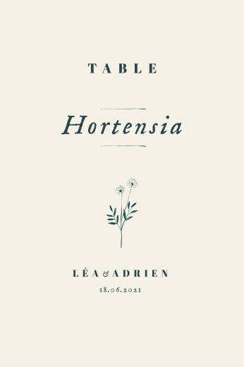 Marque-table mariage Herbier beige