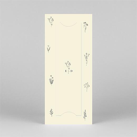 Faire-part de naissance Herbier (marque-page) beige - Vue 3
