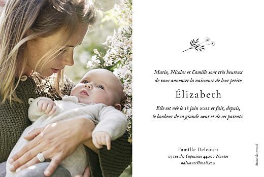 Faire-part de naissance Herbier (6 photos) beige - Page 2