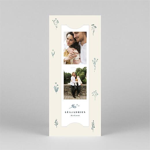 Faire-part de mariage Herbier (marque-page) beige - Vue 2