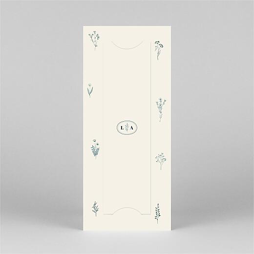 Faire-part de mariage Herbier (marque-page) beige - Vue 3