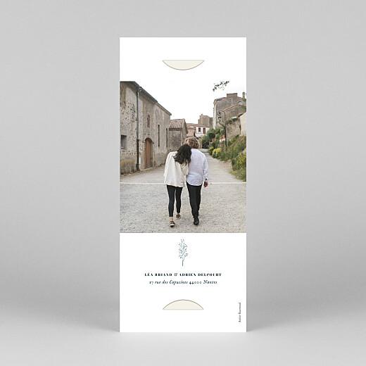 Faire-part de mariage Herbier (marque-page) beige - Vue 4