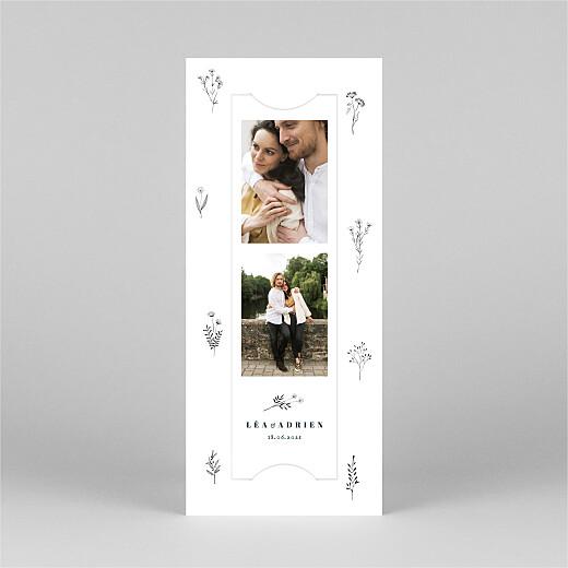 Faire-part de mariage Herbier (marque-page) blanc - Vue 2