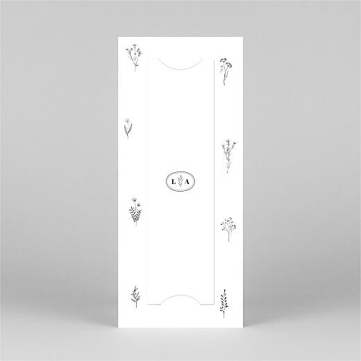 Faire-part de mariage Herbier (marque-page) blanc - Vue 3