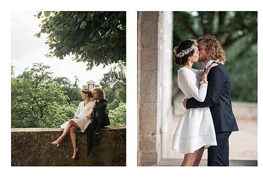 Carte de remerciement mariage Herbier (4 pages) beige - Page 2