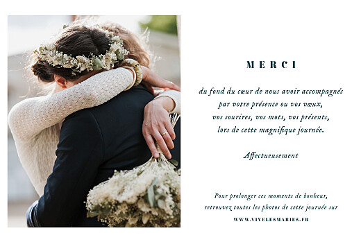Carte de remerciement mariage Herbier (4 pages) beige - Page 3
