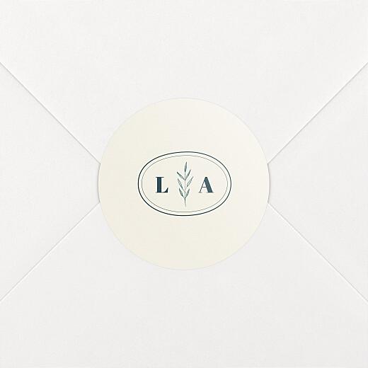 Stickers mariage Herbier beige - Vue 2
