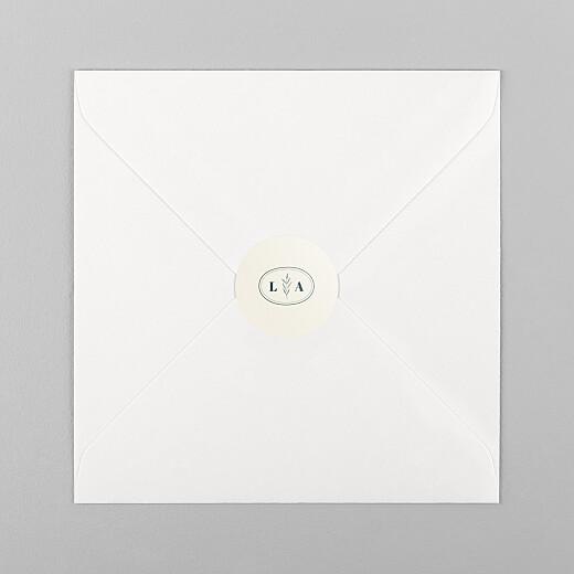Stickers pour enveloppes mariage Herbier beige - Vue 1